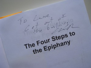My signed copy of the Four Steps